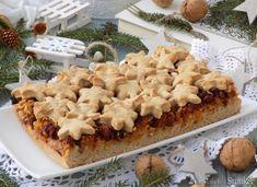 Świąteczna szarlotka z bakaliami i korzenną nutą. Holiday Baking, Cauliflower, Macaroni And Cheese, Bread, Vegetables, Cake, Ethnic Recipes, Projects, Christmas