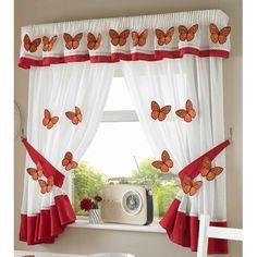Aries 5 Piece Kitchen Curtain and Pelmet Set Brambly Cottage Size: W x L Cottage, Vintage Kitchen Curtains, Kitchen Curtains, Home Essence, Home Additions, Lavender Kitchen, Kitchen Curtain Sets, Curtains, Brambly Cottage