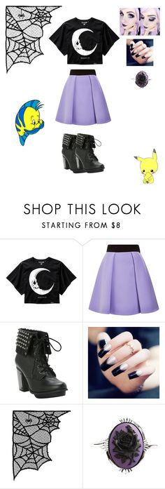 """""""Pastel Goth"""" by dinosaur-rawr62 ❤ liked on Polyvore featuring FAUSTO PUGLISI and Couture by Lolita"""