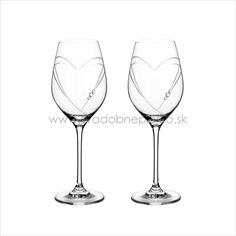 Two heart wedding flutes.