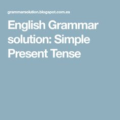 English Grammar solution: What is Tense? Definition of Tense. English Help, English Verbs, English Writing, English Grammar, English Language, English English, British English, English Class, Language Arts