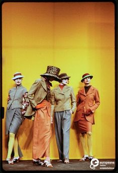 The image captures a moment of the Fashion show of Christian Lacroix 1989/1990 women's ready-to-wear collection, which took place at the Cour Carree du Louvre.  Image Courtesy Paul Van Riel, All Rights Reserved.