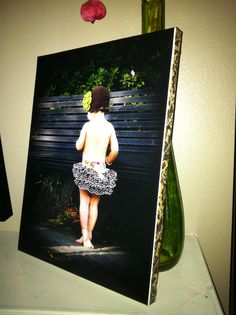 Mod podge picture canvas, really works!!
