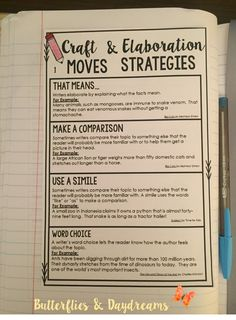 Craft Moves & Elaboration Strategies for Informational Writing, Informational Writing Unit Resources {I'm the Expert!}, Teaching Ideas, Notebook Anchor Charts, Writing Center Anchor Charts, Rubrics, and Checklists