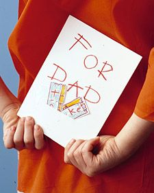 """Kids love to be in charge, so let them take Dad on a Father's Day """"date"""" of their choosing. Ask them to consider what Dad would like best: a movie, a museum, or a baseball game? A handmade card tells him they're treating. Kids can buy or draw the """"tickets""""; Mom can cut a slit for them in the card."""