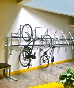 Facebook interior parking. What does your office bike room look like?