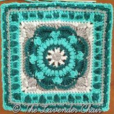4 Mandala Blanket CAL 2016 Sea Flower Mandala Square