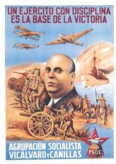 Spain - 1936-39. - GC - poster - PSOE                                                                                                                                                      Más