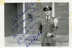 """Col. """"Red"""" Elkins signed a photo of himself with a fond farewell message for Barbara and Clint."""