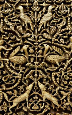 Al-Ándalus / الأندلس / Medieval Islamic Spain - Detail from an ivory panel -Cordoba, Spain century Art Roman, Art Ancien, Art Sculpture, 11th Century, Medieval Art, Ivoire, Ancient Art, Art And Architecture, Islamic Architecture