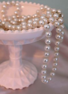 more pink...and pearls.