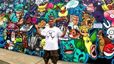 A Long Island graffiti artist put his love for Pokémon on the side of his Huntington studio for the world to see he captured them all.