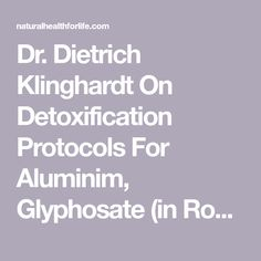 14 Best DETOX: Dr  Klinghardt Detox Protocols images in 2019