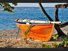 Canot à voiles, à Marie-Galante, en Guadeloupe.