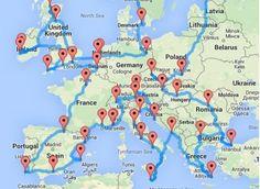 """Voyage en Europe : le """"road trip"""" idéal de 26.000 kilomètres"""