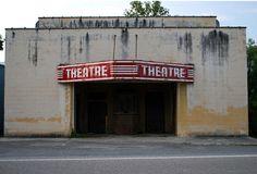Abandoned theater in Dawson, Minnesota