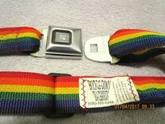 BELT GM SEAT BELT BELT BUCKLE DOWN SKATE GOODS RAINBOW COLORED BELT #buckledownskategoods