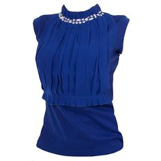 Sapphire Blue Jewel Top    £45.00 http://www.pinstripeandpearls.com/women/work-tops
