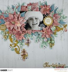 """Hi Everyone, Today the design team are sharing some beautiful creations using the Christmas Wishes Collection we are all loving the colours in this collection. … """"Christmas Wishes"""" Scrapbooking layout by Kylie Kingham Kaisercraft products: Bauble Garland Scrapbook Sketches, Scrapbooking Layouts, Christmas Wishes, Christmas Cards, Christmas Layout, Christmas Decorations, Christmas Scrapbook Pages, Smash Book Pages, Layout Inspiration"""