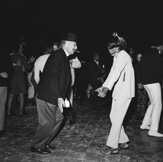 A 22-year-old Diana Ross and 70-year-old Groucho Marx on the dance floor doing the frug at a barbecue at Bobby Darin's house in Bel-Air on August 19, 1966. Photo: AP.
