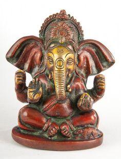 Ganesha sitzend aus Messing - 10 cm Ganesha, Messing, Buddha, Lion Sculpture, Ebay, Collection, Flashlight, Positive Vibes, Indian Gods