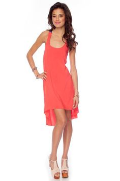 The X-ception Dress in Tangerine Blue $28 at www.tobi.com