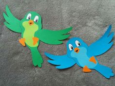 bird paper craft - spring kids craft, You are in the right place about kin Bird Paper Craft, Paper Birds, Bird Crafts, Foam Crafts, Diy Arts And Crafts, Flower Crafts, Easter Crafts, Paper Art, Hand Crafts For Kids