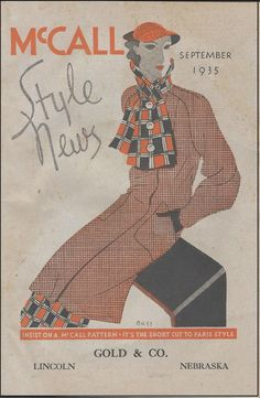McCall Style News, September 1935 featuring McCall 8435