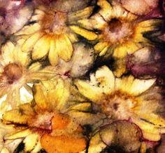 #ecodyeing #naturaldyeing  Daisies on cotton rag paper