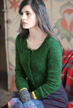 Mohair Cropped Cardigan
