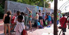 칠판 쵸크보드 예술가벽활용