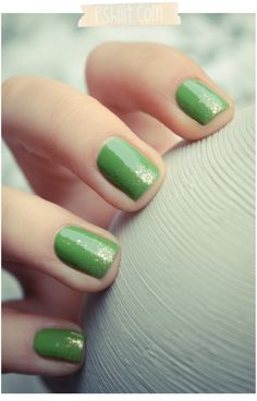 Spring nails~LOVE green!