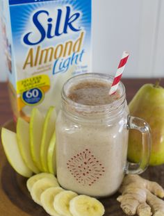 Ginger Pear Smoothie - a bite of ginger is the perfect complement to a sweet, juicy pear.