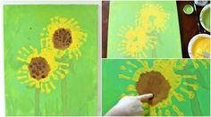handabdruck-bilder-kinder-sonnenblumen-leinwand-sommer