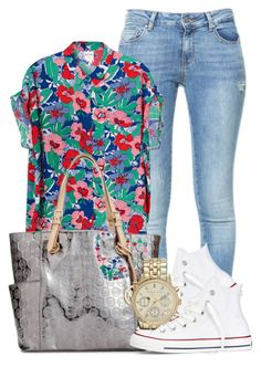 """Juss chill."" by icebeezy ❤ liked on Polyvore featuring Zara, Monki, Michael Kors, Converse and MICHAEL Michael Kors"