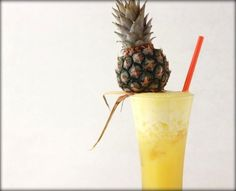 Spiked Pineapple Ginger Drink recipe by Season with Spice Ginger Cocktails, Ginger Drink, Cocktail Drinks, Fun Drinks, Yummy Drinks, Beverages, Pineapple Rum Drinks, Pineapple Cocktail, Baby Pineapple