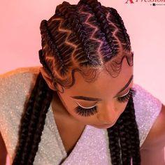 Feed In Braids Hairstyles, Braided Hairstyles For Black Women, Baddie Hairstyles, Girl Hairstyles, American Hairstyles, Feed Braids, Natural Hair Braids, Braids For Black Hair, Cornrows Braids For Black Women