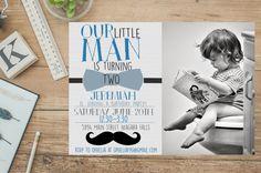 Little Gentleman Birthday Invitation Printable Little Gentleman, Printable Birthday Invitations, Little Man, Rsvp, Printables, Happy, Happiness, Instagram, Bonheur