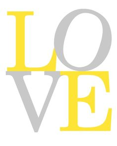 Printable Nursery Art, Love Nursery Print, Yellow and Grey Nursery Art, Printabl… - Modern Yellow Nursery, Baby Nursery Neutral, Nursery Prints, Nursery Art, Nursery Ideas, Nursery Quotes, Boy Decor, Gender Neutral, Printable Wall Art
