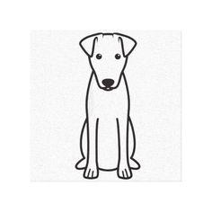 Smooth Fox Terrier Dog Cartoon Canvas Prints