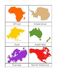 The Effective Pictures We Offer You About Montessori Materials name A quality picture can tell you many things. You can find the most beautiful pictures that can be presented to you about Montessori M Continents Activities, Montessori Activities, Geography Activities, Educational Activities, Continents And Oceans, Geography For Kids, Printable Pictures, Montessori Materials, Learning Centers