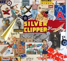 Junior Pilot*Boys Inspiration Kit*Airplane Ephemera Paper Pack by Scrappybird on Etsy