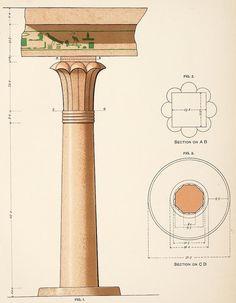 File:Details of column of Tomb of Djehutihotep II. Egyptian Temple, Egyptian Symbols, Egyptian Art, Egypt Concept Art, Ancient Egyptian Architecture, Column Capital, Kemet Egypt, Luxor, Ancient Civilizations