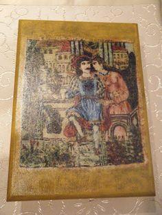 """Κλειδοθήκη : """"Ερωτόκριτος και Αρετούσα"""" Vintage World Maps, Blog, Painting, Painting Art, Paintings"""