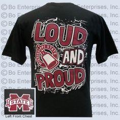 """Loud and Proud"" cowbell MSU T-Shirt: Loud and Proud (unisex short sleeve) Girlie Girl Originals"