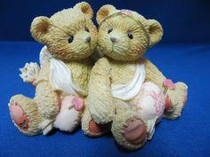 Cherished Teddies My Love Cupid Valentine Bears 869082 Teddy Angels Enesco 1994 #CherishedTeddies #Enesco