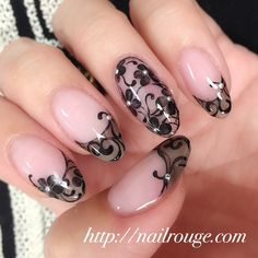 Opting for bright colours or intricate nail art isn't a must anymore. This year, nude nail designs are becoming a trend. Here are some nude nail designs. Fabulous Nails, Gorgeous Nails, Pretty Nails, Lace Nails, Pink Nails, Get Nails, Hair And Nails, Nail Mania, Flower Nail Art