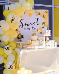 """Bee Baby Shower Ideas that are sweet as can """"bee""""! – Colleen Michele Bee Baby Shower Ideas that are sweet as can """"bee""""! – Colleen Michele,Baby Shower Ideas Bee Baby Shower Ideas that are. Fiesta Baby Shower, Baby Shower Fun, Baby Shower Gender Reveal, Shower Party, Baby Shower Gifts, Baby Showers, Bridal Showers, Unique Baby Shower Themes, Baby Shower Ideas For Boys Themes"""