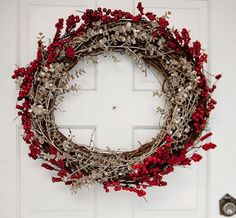 Deck the halls with these gorgeous winter wreaths that will bring holiday cheer to your Christmas decor. Christmas wreaths are often made with fir, but we share alternative wreath supplies that could inspire this year's front door. Homemade Christmas Wreaths, Christmas Wreaths For Front Door, Diy Christmas Decorations Easy, Holiday Wreaths, Diy Christmas Gifts, Christmas Ornaments, Holiday Decor, Winter Wreaths, Christmas Christmas