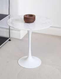Fluted side table marble £245